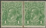 SG 86w ACSC 80(4)p., 80a. KGV Head 1d Green, Watermark Inverted pair (AHSMP/298)